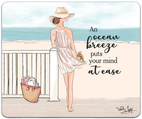 """An Ocean Breeze"" Mouse Pad by Heather Stillufsen"