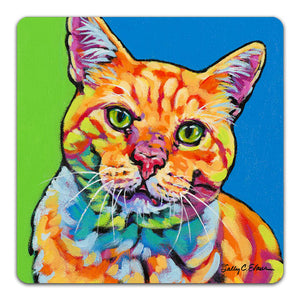 SE1-107-Orange-Tabby-Cat-Table-Top-Coaster-by-Sally-Evans-and-CJ-Bella-Co