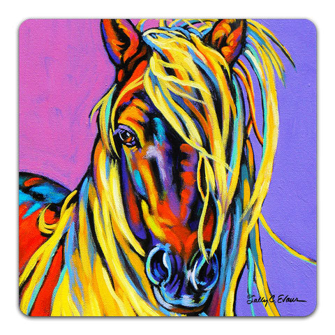 """Horse Blondie"" Drink Coaster by Sally Evans"