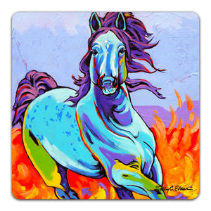 SE1-115-Horse-Wind-Blue-Table-Top-Coaster-by-Sally-Evans-and-CJ-Bella-Co