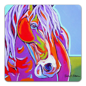 SE1-116-Blue-Horse-Table-Top-Coaster-by-Sally-Evans-and-CJ-Bella-Co