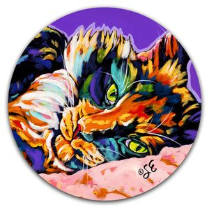 SE2-105-Cat-Lounging-Car-Coaster-by-Sally-Evans-and-CJ-Bella-Co