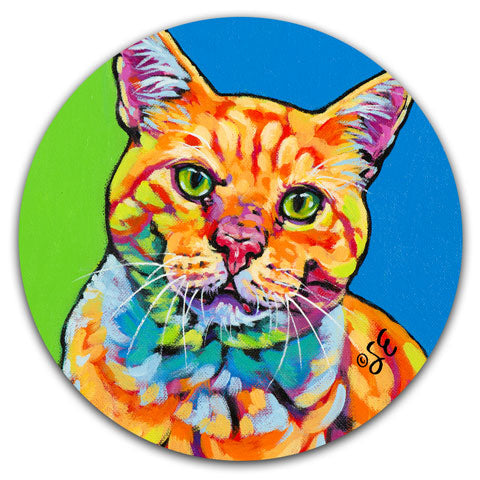 SE2-107-Orange-Tabby-Cat-Car-Coaster-by-Sally-Evans-and-CJ-Bella-Co
