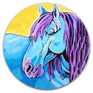 SE2-115-Horse-Blue-Car-Coaster-by-Sally-Evans-and-CJ-Bella-Co