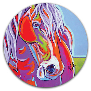 SE2-116-Horse-Blue-Painted-Car-Coaster-by-Sally-Evans-and-CJ-Bella-Co