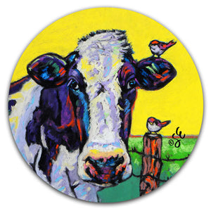 SE2-119-Cow-Pasture-Friends-Bird-Fence-Car-Coaster-by-Sally-Evans-and-CJ-Bella-Co