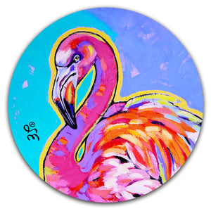 SE2-125-Flamingo-Beach-Colorful-Car-Coaster-by-Sally-Evans-and-CJ-Bella-Co