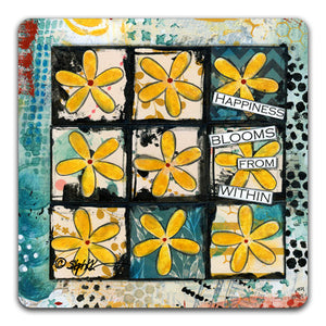 SK1-104-Happiness-Blooms-From-Within-Table-Top-Coaster-by-CJ-Bella-Co