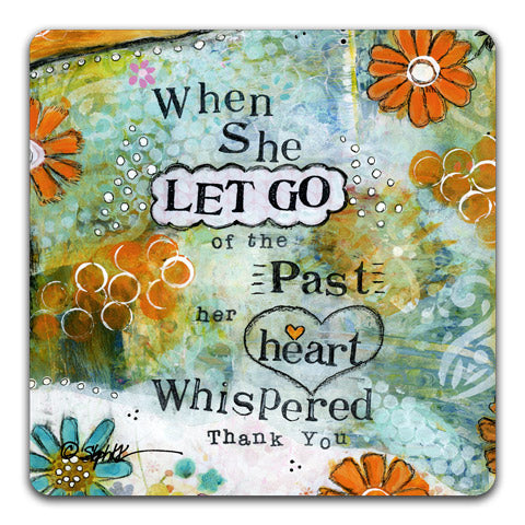 """When She Let Go"" Drink Coaster by Stephanie Kornman"