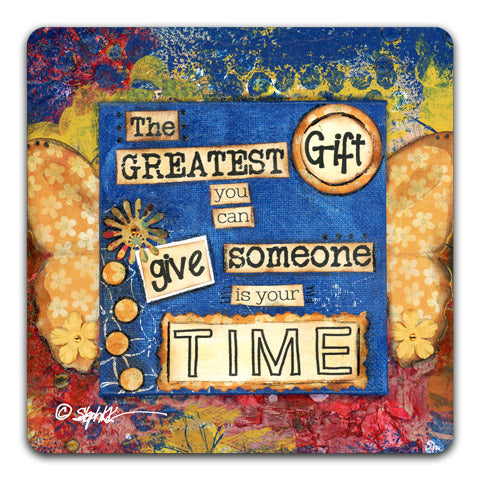 """The Greatest Gift"" Drink Coaster by Stephanie Kornman"