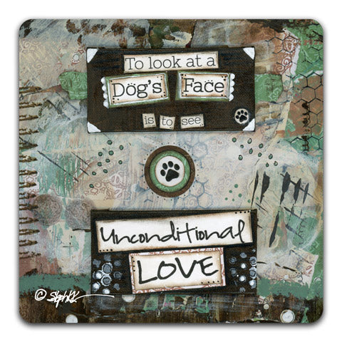 """To Look At A"" Drink Coaster by Stephanie Kornman"