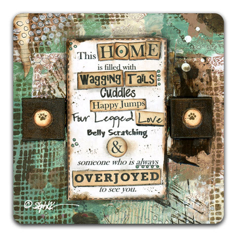 """This Home Is Filled"" Drink Coaster by Stephanie Kornman"