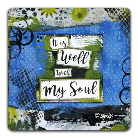 """It Is Well"" Drink Coaster by Stephanie Kornman"