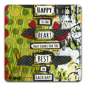 SK1-123-Happy-Is-The-Heart-That-Looks-Table-Top-Coaster-by-CJ-Bella-Co