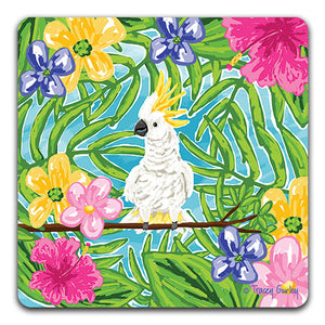 TG104 Cockatoo Drink Coaster by Tracey Gurley and CJ Bella Co