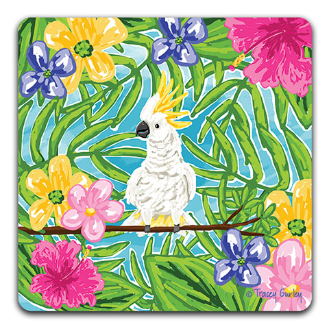 """Cockatoo"" Drink Coaster by Tracey Gurley"