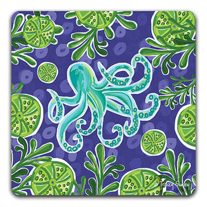 """Octopus"" Drink Coaster by Tracey Gurley - CJ Bella Co."