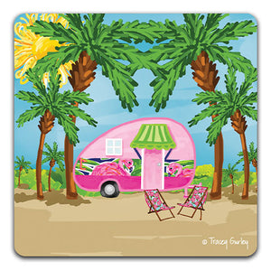 TG122 Camper Drink Coaster by Tracey Gurley and CJ Bella Co