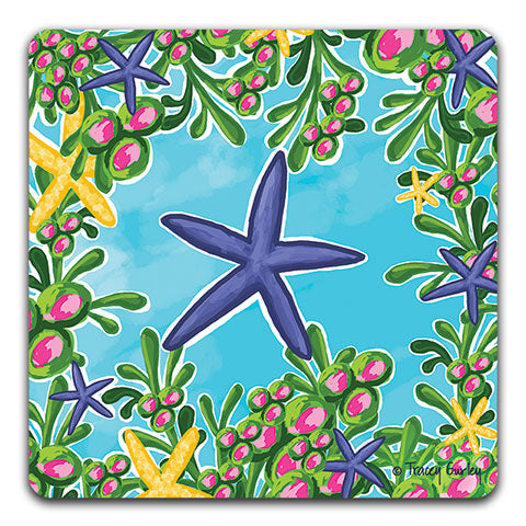 """Starfish"" Drink Coaster by Tracey Gurley"