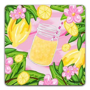 TG132 Lemons Drink Coaster by Tracey Gurley and CJ Bella Co