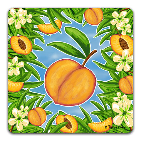 """Peach"" Drink Coaster by Tracey Gurley"