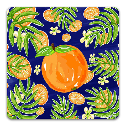 """Orange"" Drink Coaster by Tracey Gurley"