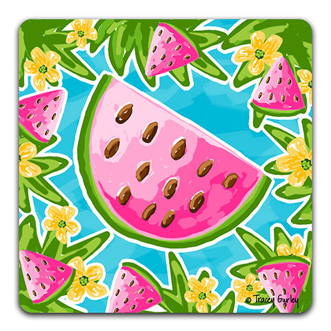 """Watermelon"" Drink Coaster by Tracey Gurley"