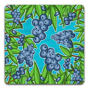 """Blueberry"" Drink Coaster by Tracey Gurley"
