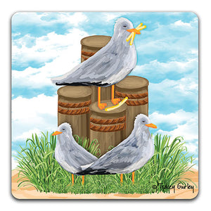 """Seagull"" Drink Coaster by Tracey Gurley"