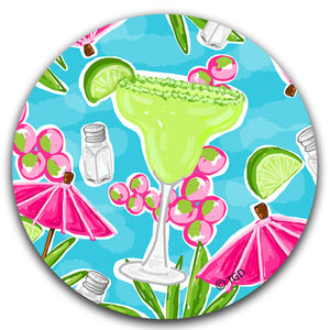 TG208 Margarita Car Coaster By Tracey Gurley and CJ Bella Co
