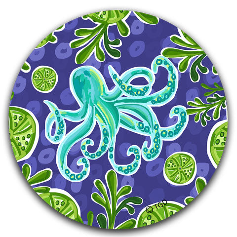 """Octopus"" Car Coaster by Tracey Gurley"