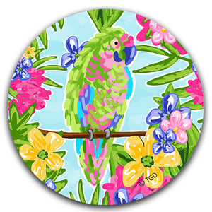 """Parrot"" Car Coaster by Tracey Gurley - CJ Bella Co."