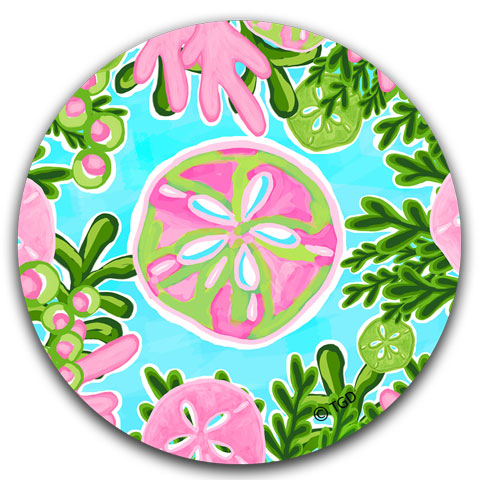 """Sand Dollar"" Car Coaster by Tracey Gurley"