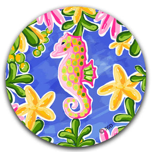 """Seahorse"" Car Coaster by Tracey Gurley - CJ Bella Co."