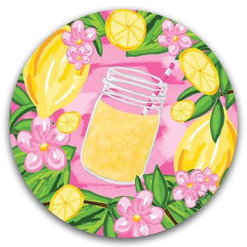 """Lemons"" Car Coaster by Tracey Gurley"