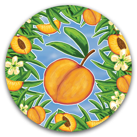 """Peach"" Car Coaster by Tracey Gurley"