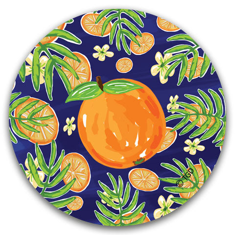 """Orange"" Car Coaster by Tracey Gurley"