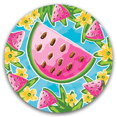 """Watermelon"" Car Coaster by Tracey Gurley"