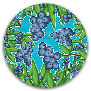 """Blueberry"" Car Coaster by Tracey Gurley - CJ Bella Co."