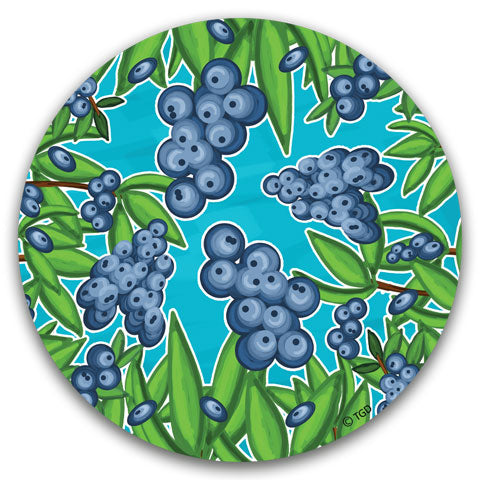 """Blueberry"" Car Coaster by Tracey Gurley"