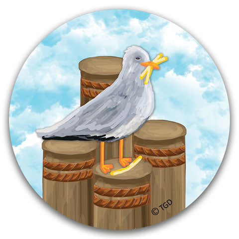 """Seagull"" Car Coaster by Tracey Gurley"