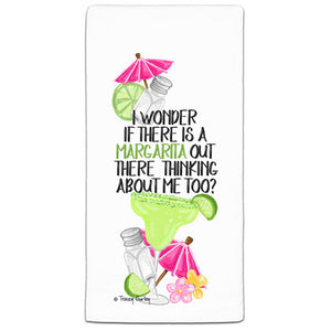 """I Wonder If There is a Margarita"" Flour Sack Towel by Tracey Gurley"