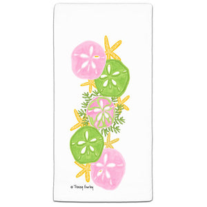 TG3-117 Sand Dollar Flour Sack Towel by Tracey Gurley and CJ Bella Co