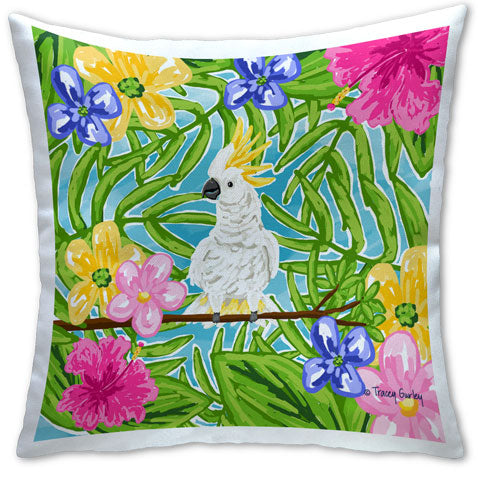 """Cockatoo"" Pillow by Tracey Gurley"