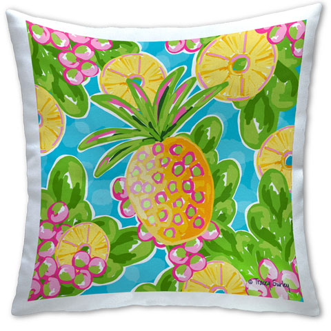 """Pineapple"" Pillow by Tracey Gurley"