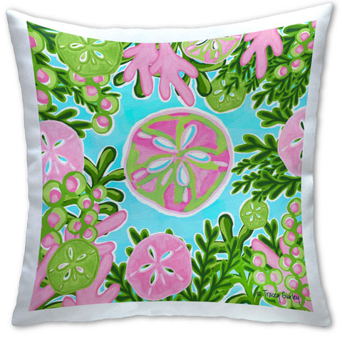 """Sand Dollar"" Pillow by Tracey Gurley"