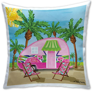 TG4-122 Camper Pillow by Tracey Gurley and CJ Bella Co