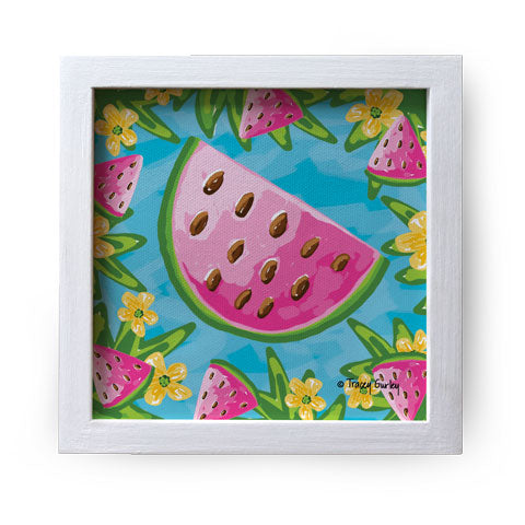 """Watermelon"" Canvas Box Sign by Tracey Gurley"