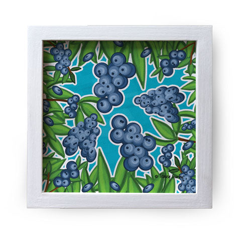 """Blueberry"" Canvas Box Sign by Tracey Gurley"