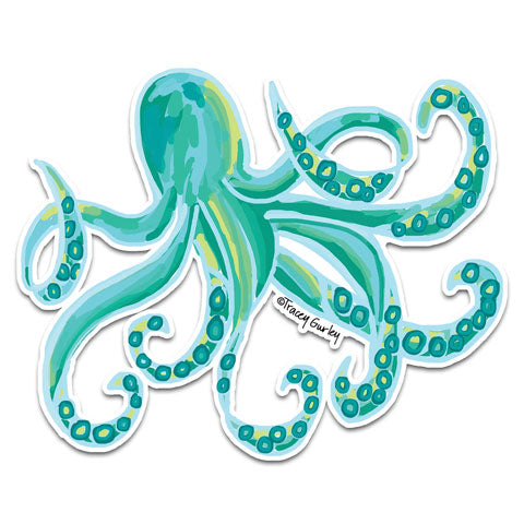 """Octopus"" Vinyl Decal by Tracey Gurley"